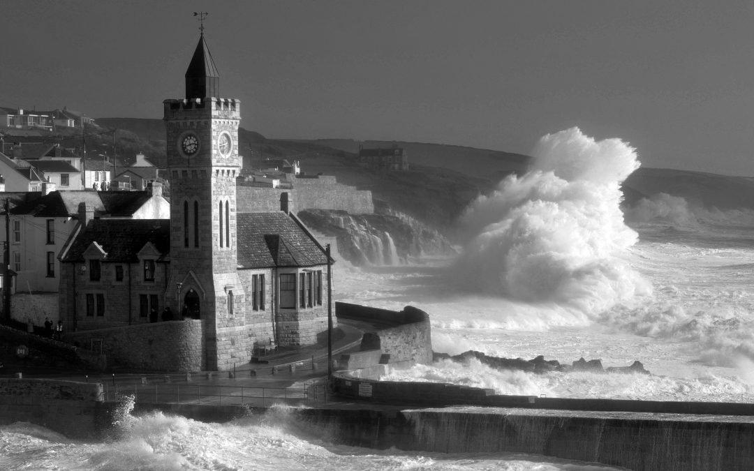 Storm-watching in Cornwall this winter